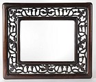 Antique Pierced and Carved Chinese Hardwood Frame.