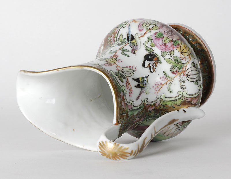 "Chinese Export Porcelain ""Canton Rose"" Jug, 19th C."