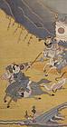 Chinese Silk Kesi Tapestry w. Warriors, late Qing.