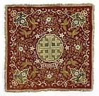 Ottoman Gold Embroidered Cover w. Jerusalem Cross, 19th C.