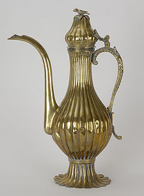 Large Ottoman Turkey Brass Ewer, 19th C.