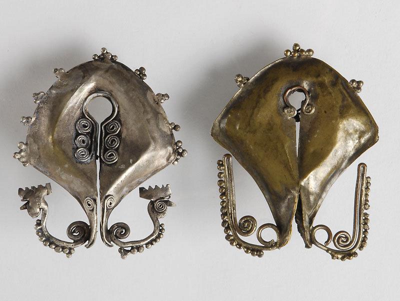 "Two Old Indonesian ""Mamuli"" Earrings or Pendants."