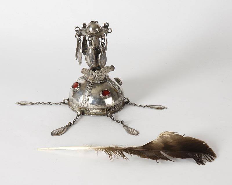 "Turkoman Silver Domed Final ""Gupba"" Cap Ornament."