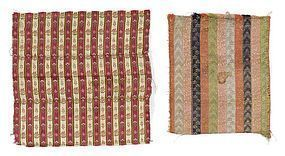 Two Persian Woven Silk Textile Fragments, 19th C.