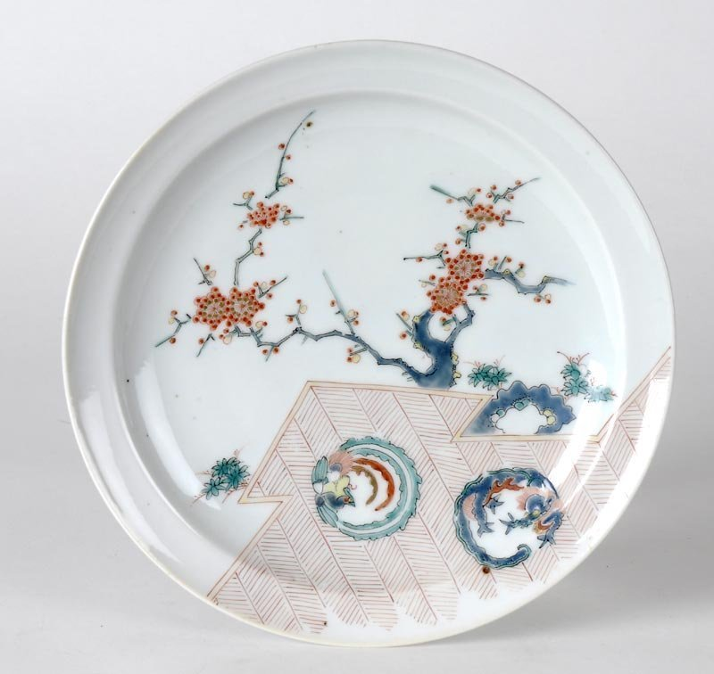 Japanese Arita Kakiemon Porcelain Dish, 18th C.