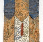 Antique Japanese Silk Brocade Ritual Temple Banner.