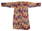 Old Uzbek Blended Fabric Ikat Chapan Robe, # 4