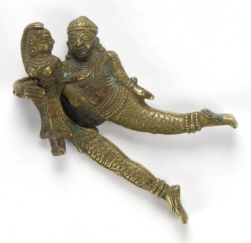 Antique Tamil Nadu Brass Areca Nut Cutter, South India.