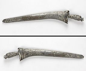 Silver Mounted Pedang Lurus Sword, Java Indonesia, #2