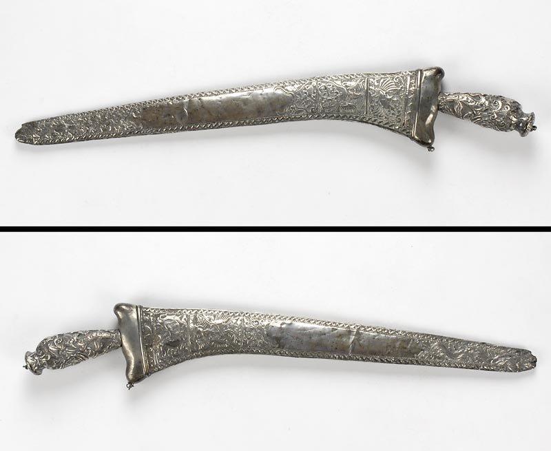 Silver Mounted Pedang Lurus Sword, Java Indonesia, #2