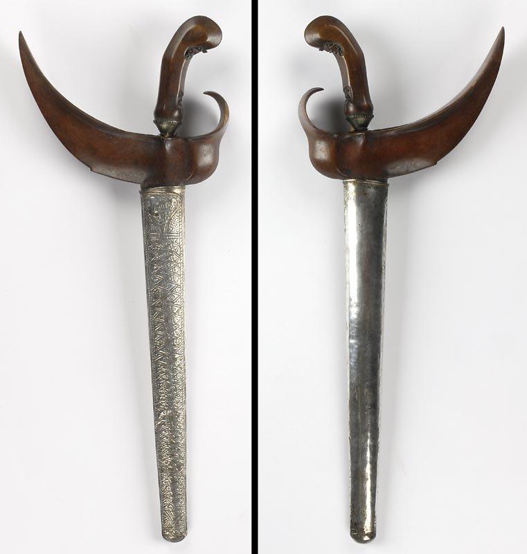 Antique Indonesian Keris Dagger from Surakarta, Java.