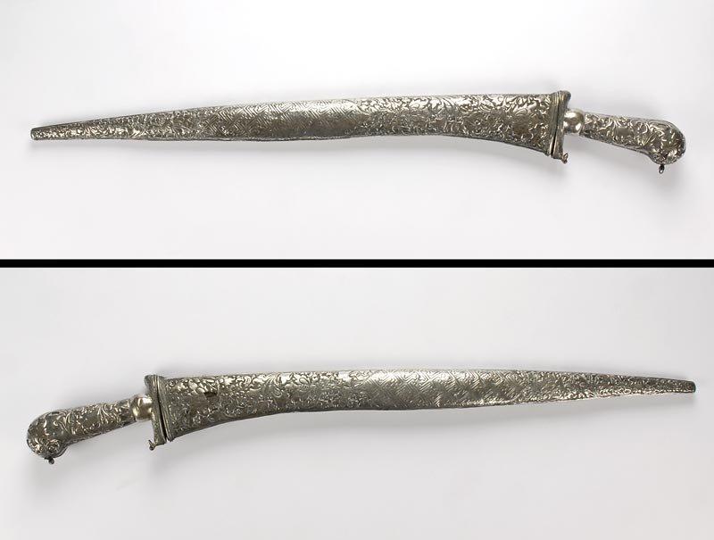 Large Silver Mounted Pedang Lurus Sword, Java, #3