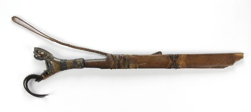 Antique Dayak Mandau Sword from Borneo, Indonesia.