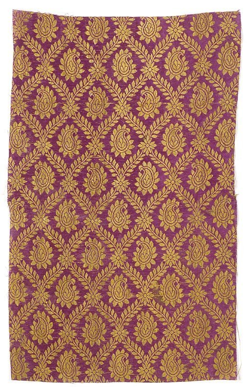 Persian Silk Brocade Textile Fragment, 18th/19th C.