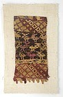 Pre-Columbian Chancay Tapestry Textile Fragment, #1