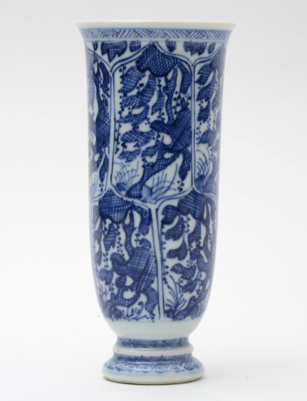 Chinese Kangxi Export Porcelain Blue & White Beaker, #1