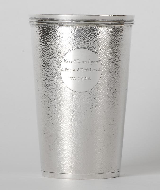 Chinese Export Silver Beaker Goblet, Tuck Chang.