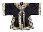 Antique Chinese Woman's Unofficial Informal Silk Robe.