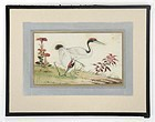 Chinese Bird & Flower Pith Paper Painting #1, 19th C.