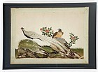 Chinese Bird & Flower Pith Paper Painting #6, 19th C.