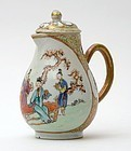 Chinese Export Porcelain Cream Pitcher w. Figures, 18th