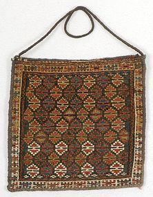 Persian Shasavan Sumakh Chanteh Bag, c. 1900.