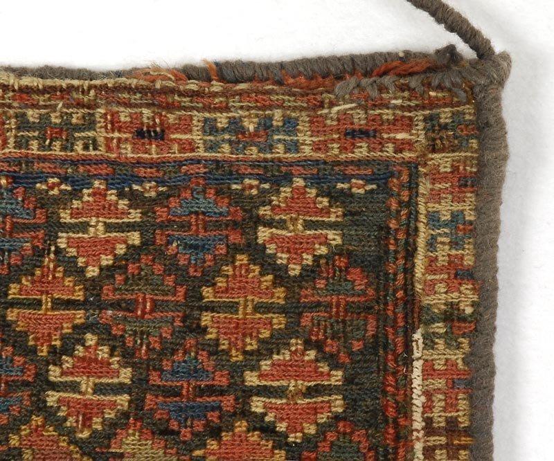 Persian Shasavan Sumakh Chanteh Bag, c. 1900.