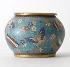Small Early Japanese Cloisonne Enamel Jar, 19th C.
