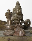 Indian Miniature Bronze Altar w. Ganesha, Maharashtra.