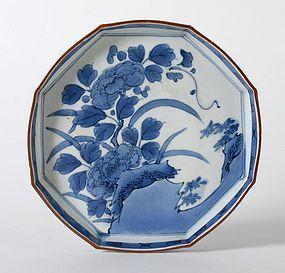 Japanese Blue & White Arita Porcelain Dish, 17/18th C.