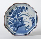 Japanese Blue & White Arita Porcelain Dish, 17/18th C.