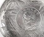 "Chinese ""Yuan Shikai"" Silver Dollar Coin Presentation Dish, c. 1920."