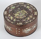 Vietnamese Mother-of-Pearl Inlaid Box and Cover, late 19th C.