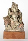 Antique Himalayan Buddhist Tantric Clay Yab-Yum Figure.