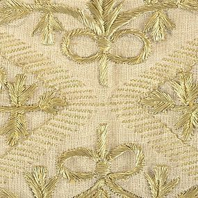 Antique Ottoman Gold Embroidered Scarf or Yaglik.