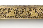 "Persian Qajar Steel Qalamdan Pen Box w. ""False Damascene"", 19th C."