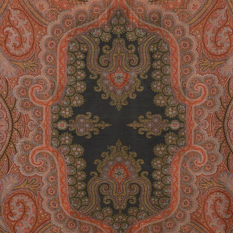 Large Antique Woven French Wool Kashmir Shawl, 19th C.