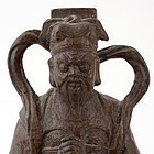Antique Chinese Bronze Guardian Figure of Weituo, Ming Dynasty.