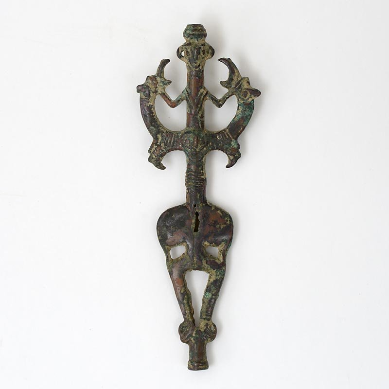"Ancient Luristan Bronze Standard Finial ""Master of Animals"", # 2."