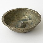 Persian Engraved Brass Magic Bowl with Zodiac Signs, 18th C.