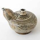Rare Thai Sukothai Stoneware Kendi Ewer, c. 16th C.