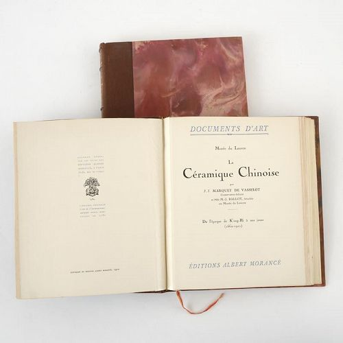 """La Ceramique Chinoise - Musee du Louvre"" - Reference Book, 2 Vols."