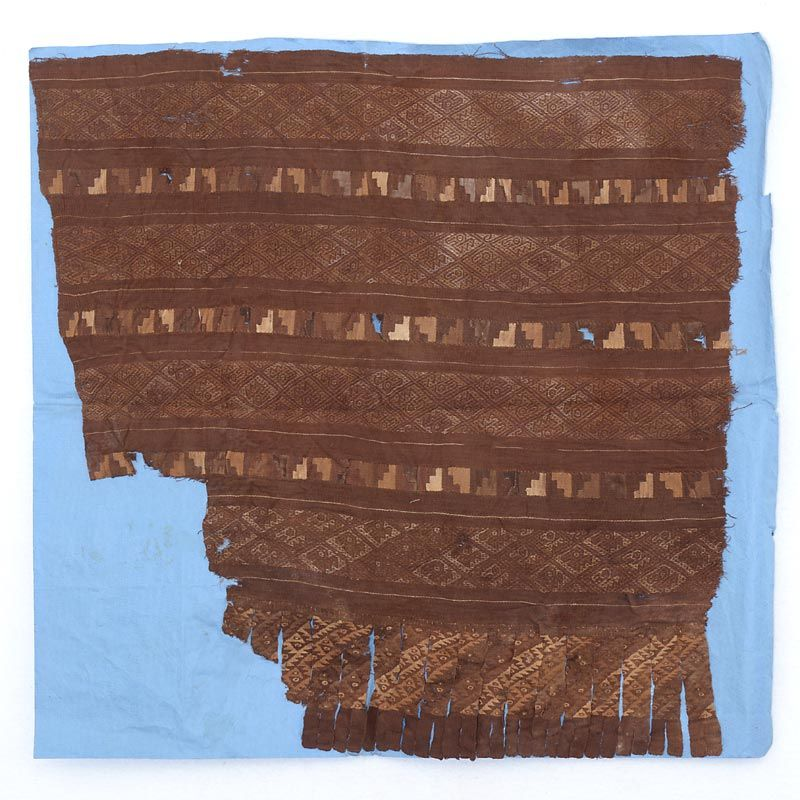 Precolumbian Chancay or Chimu Woven Tunic Fragment w. Tapestry.