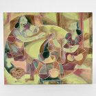 Cubist Painting of Three Women, 20th C.