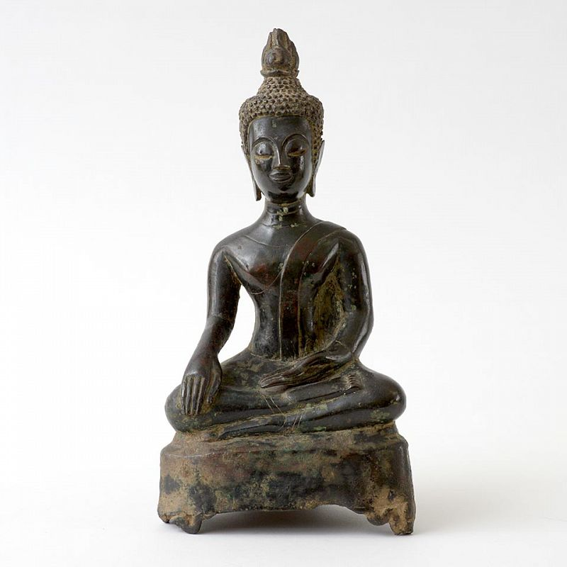 A Bronze Figure of Buddha Shakyamuni, Laos 17th/18th C.