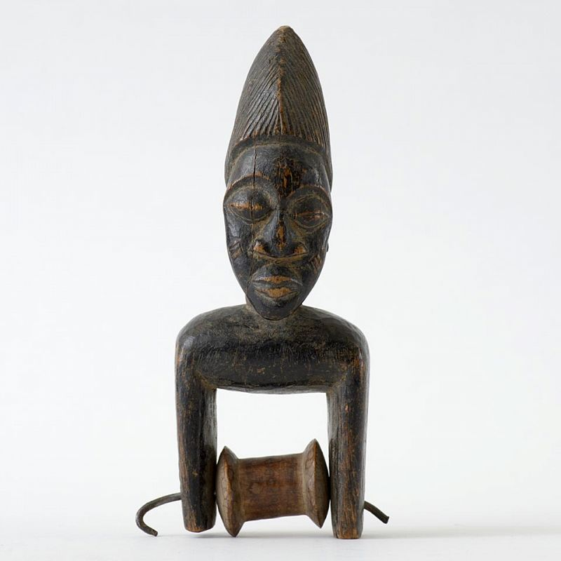 Fine African Tribal Anthropomorph Heddle Pulley, ex Coll. Graffenried.