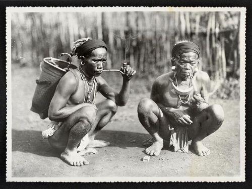 By Vietnamese Photographer Huong Ky:  Two Men Smoking, c. 1930