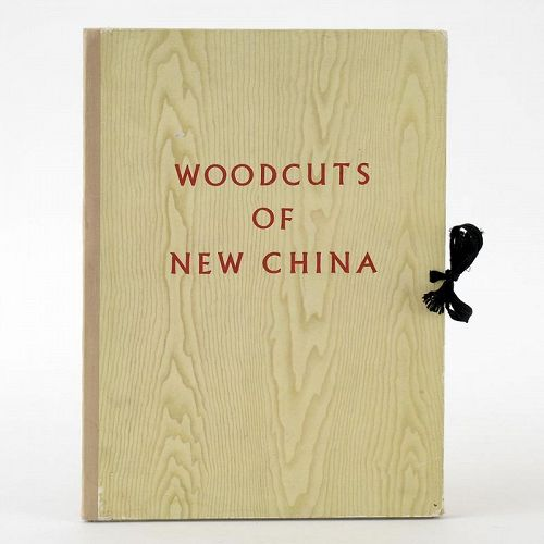 """Woodcuts of New China"" Folio with 40 Lithograph Plates, Peking 1956."