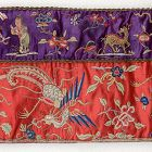 Antique Chinese Silk Hanging Cloth Embroidered in Peking Knot, 19th C.