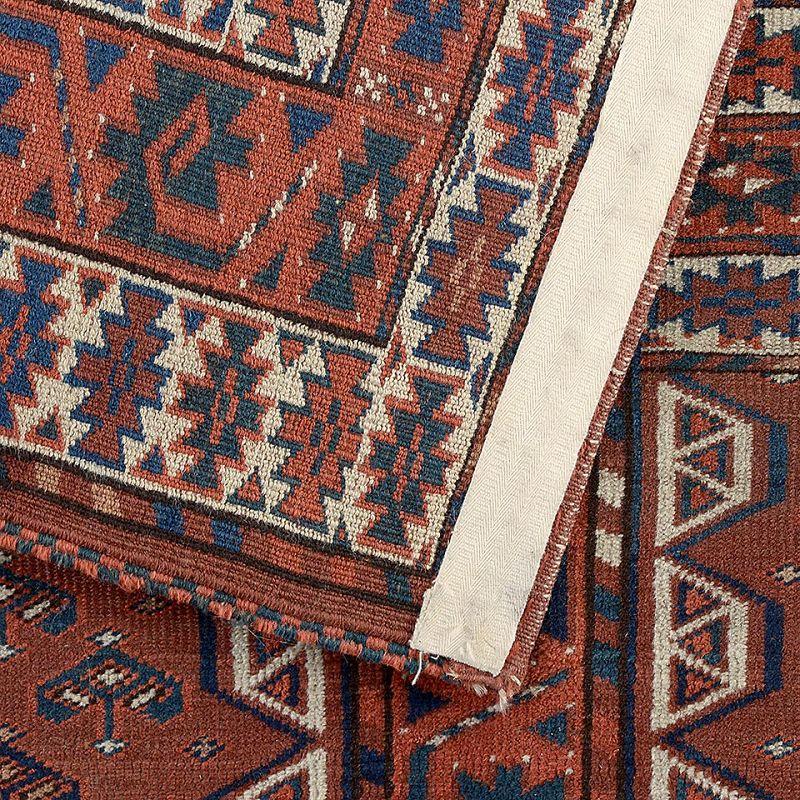 Antique Turkmen Yomut Ensi Rug with Eagle Elem, 19th C.